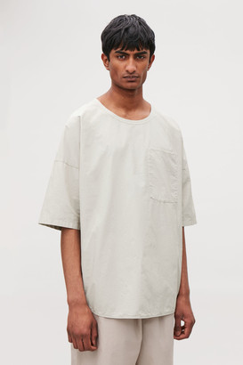 Cos Relaxed Woven T-Shirt