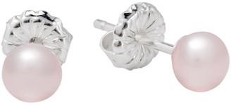 Claudia Bradby Sterling Silver Pearl Stud Earrings, Silver/Pink