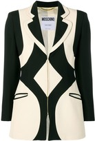 Moschino Pre Owned 1990's graphic pattern blazer