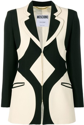 Moschino Pre-Owned 1990's Graphic Pattern Blazer