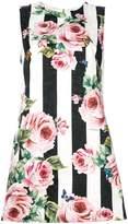 Dolce & Gabbana stripe rose printed dress