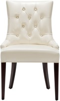 The Well Appointed House Hemmingway Cream Leather Tufted Dining Side Chair