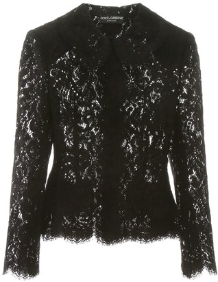 Dolce & Gabbana Lace Fitted Shirt