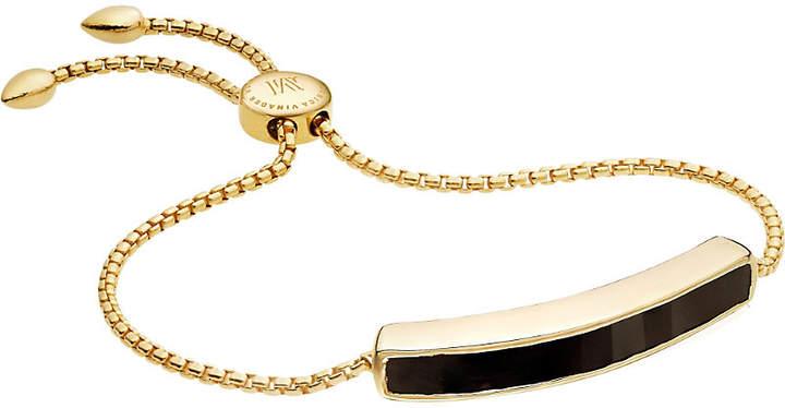 Monica Vinader Baja 18ct gold-plated vermeil and black onyx bracelet