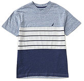 Nautica Big Boys 8-20 Color Block/Stripe Short-Sleeve Tee