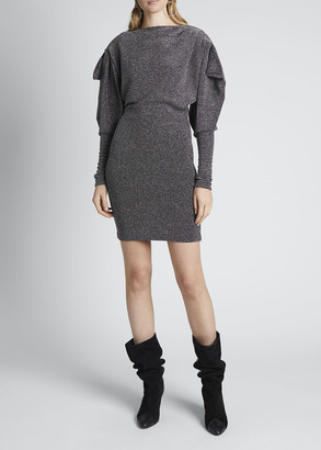 Isabel Marant Metallic Ruched Dress