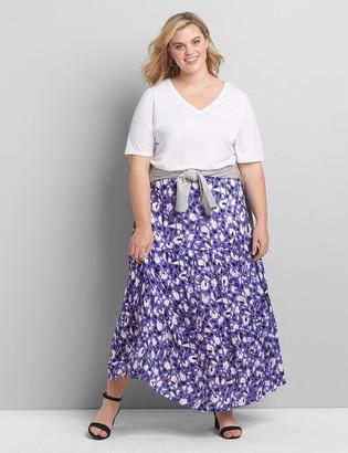 Lane Bryant Floral Seamed Maxi Skirt