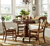 Pottery Barn Tivoli Fixed Pedestal Table & Napoleon Chair 5-Piece Dining Set