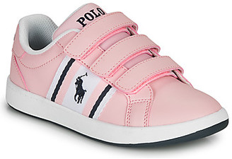 Polo Ralph Lauren OAKLYNN EZ girls's Shoes (Trainers) in Pink