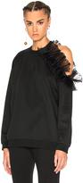 Christopher Kane Cut Away Frill Sweatshirt