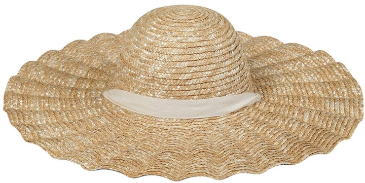 Scalloped Straw Dolce Hat