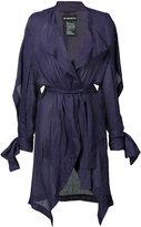 Ann Demeulemeester light-weight belt jacket