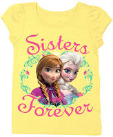 Freeze Frozen Yellow Anna & Elsa 'Sisters Forever' Tee - Girls