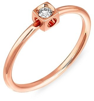 Dinh Van Le Cube Diamond 18K Rose Gold Ring