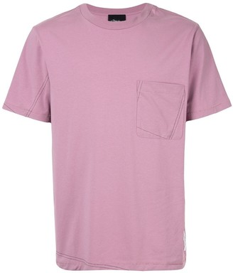 3.1 Phillip Lim Short Sleeve T-Shirt with Contrast Stitch Pocket