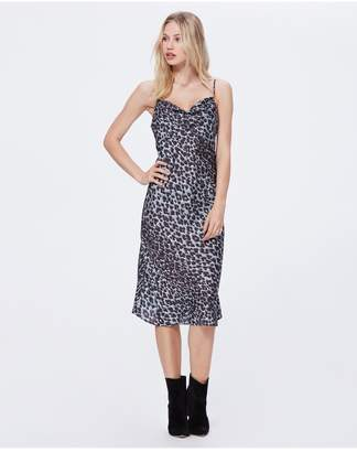 Paige Giovanna Dress - Blue Ice Psychedelic Leopard