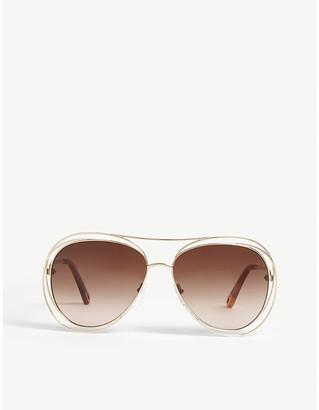 Chloé Carlina CE134S pilot sunglasses