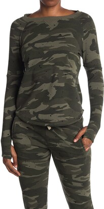 Theo And Spence Splatter Camo Printed Pullover