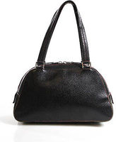 Lambertson Truex Black Leather Small Satchel Handbag