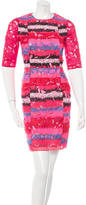 Peter Pilotto Orchid Lace Sheath Dress
