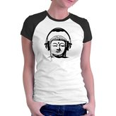 Eddany Buddha music headphones Raglan Women T-Shirt