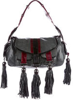 Thomas Wylde Tassel-Embellished Embossed Shoulder Bag w/ Tags