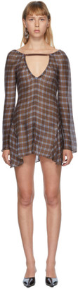 Charlotte Knowles SSENSE Exclusive Brown Silk Beha Dress
