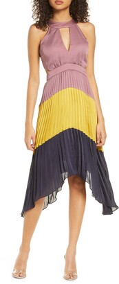 Harlyn Colorblock Pleated Dress