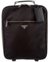 Prada Saffiano Leather-Trimmed Tessuto Luggage