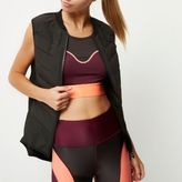 River Island Womens RI Active black padded sports vest
