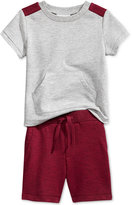 First Impressions Baby Boys' 2-Pc. Colorblocked Kangaroo T-Shirt & Shorts Set, Only at Macy's