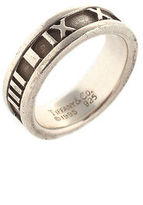 Tiffany & Co. Tiffany&Co. Sterling Silver Roman Numeral 1995 Atlas Band Ring Size 6 AC7270 MHL