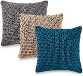 Kenneth Cole Reaction Home Chunky Knit Square Throw Pillow in Ivory
