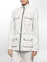 Calvin Klein Womens Space Dye Zip Front Camp Jacket