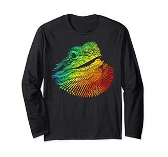Dragon Optical BEARDED Colorful Rainbow Retro Long Sleeve T-Shirt