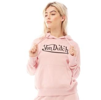 Von Dutch Womens V-Allea Hoodie Light Pink/Black