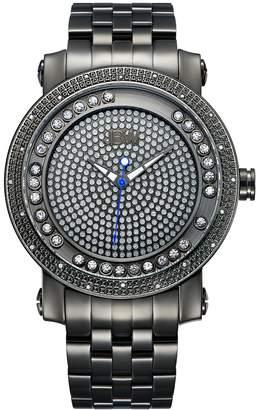 JBW Men's Hendrix Diamond Accent & Crystal Stainless Steel Watch