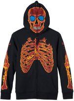 Boys 8-20 Tony Hawk Flaming Skeleton Hoodie