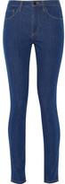 Victoria Beckham Denim - Powerhigh High-rise Skinny Jeans - Mid denim