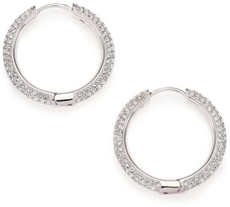 Adriana Orsini Pave Crystal Hoop Earrings/0.9""