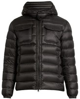 Moncler Valence Detachable-hood Quilted-down Jacket