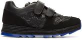 Stella McCartney Black Velcro Macy Sneakers