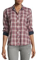 Current/Elliott The Slim Boy Shirt, Railroad Plaid