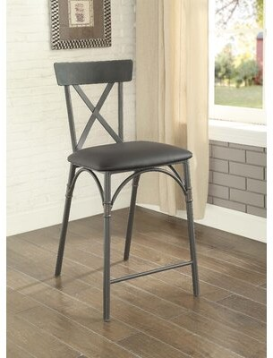 Mitchum Cross Back Side Chair in Black 17 Stories