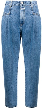 Closed High-Rise Mom Jeans