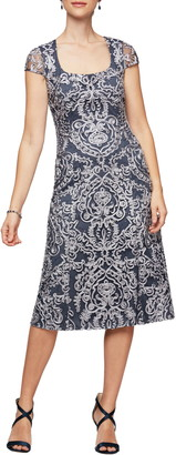 Alex Evenings Scoop Neck Dress