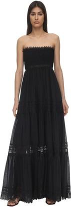 Charo Ruiz Ibiza Zoe Lace & Cotton Maxi Dress