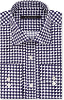 Sean John Men's Fitted Tailored-Cut Purple Print Dress Shirt