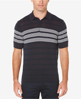 Perry Ellis Striped Cotton Polo Sweater