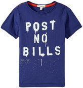 Appaman Post No Bills Graphic Tee (Toddler/Kid) - Blue Depths - 4T
